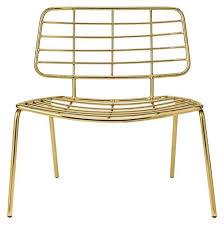 chaise dorée chaise large design métal doré bloomingville sur cdc design