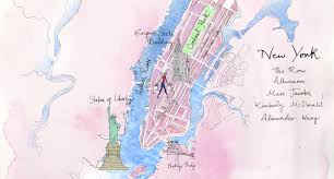 Bailey Colorado Map by New York Fashion Week Map Melissa Bailey Illustration