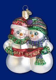 ornaments snowmen and snow