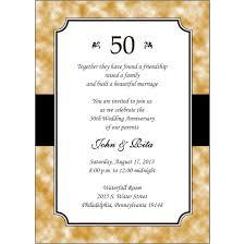 Anniversary Invitation Cards Samples 50th Wedding Anniversary Invitations With Reply Cards