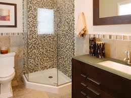 bathroom with corner shower featured mosaic tiles bathroom