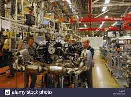 stuttgart porsche factory assembly of porsche carrera engine at the plant in stock photo