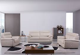 Light Gray Leather Sofa by Hills Leather Sofa S173