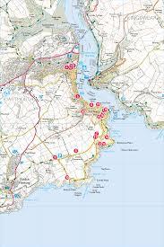 Dart Map A Dart Estuary Walk Print Walk South West Coast Path