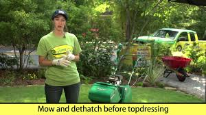 how to topdress a lawn to make a level surface youtube