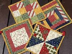 free patterns quilted potholders christmas pot holders potholders christmas colors and cotton