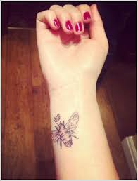 bee with crown on wrist