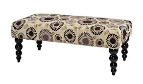 amazon com linon home decor claire bench purple floral kitchen
