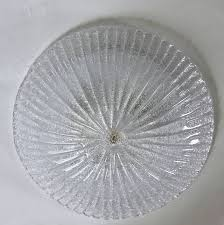 Flush Mount Ceiling Fixture Pair Murano Rugiadoso Clear Glass Flush Mount Ceiling Lights At