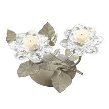 Home Decor Distributor Crystal Flower Centerpiece Candleholder Wholesale At Koehler Home