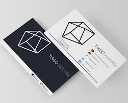 Minimal Design Business Cards Modern Masculine Business Card Design For Tiago Amorim By Lilu