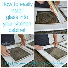 Cabinet Door Glass Insert How To Add Glass Inserts Into Your Kitchen Cabinets Kitchens
