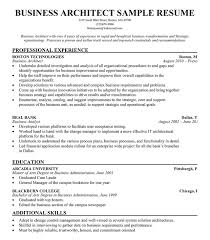business architect resume example free resume resumecompanion