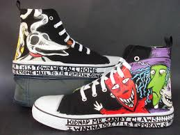 custom nightmare before shoes by rachelliles352 on