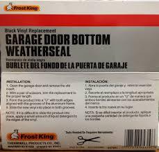 garage door bottom weather seal frost king rv18 vinyl 2 car garage door bottom weather seal
