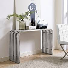 stainless steel console table pipe stainless steel console table contemporary modern furniture