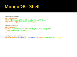 Mongodb Map Reduce Ppt Net And Mongodb A Code First Introduction Powerpoint