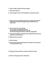 review sheet for 8th grade science nc eog and final exam by avery