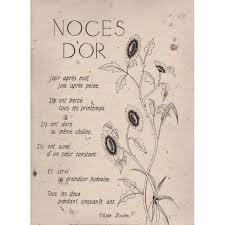 poeme 50 ans de mariage noces d or texte sur parchemin noces d or 50 ans mireille