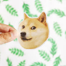 Doge Meme Tumblr - doge sticker etsy