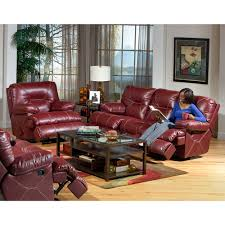 red livingroom red reclining living room group 6 pc with chaise recliner and 3