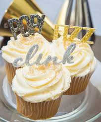 New Year S Eve Cake Decorations by Amazon Com New Years Cupcake Toppers