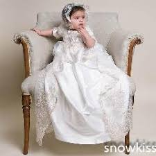 baptism accessories lace sleeves newborn christening dress baptism robe