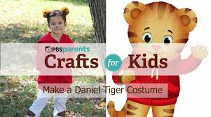 no sew daniel tiger costume crafts for kids pbs parents youtube