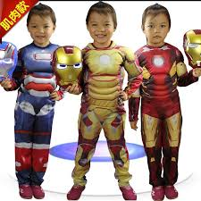 Iron Man Halloween Costume 2017 Baby Boys Girls Iron Man Costume Children Jumsuit