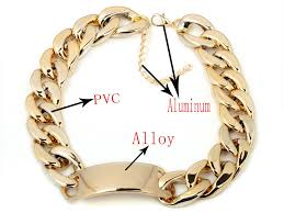 curb chain necklace fashion images Fashion aluminium alloy light gold chunky curb chain link id bib jpg
