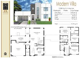 villa house plans modern villa home building plans 80561
