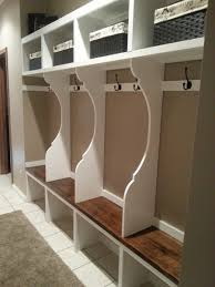 mudroom cabinet with cool white painting design of mudroom cabinet