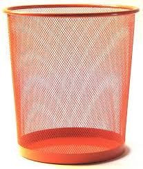 le de bureau orange corbeille à papier orange pour le bureau kollori com