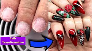 red and black nail art for short nails transformations best