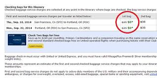 how much does united charge for bags what airlines don t tell you about waiving that checked bag