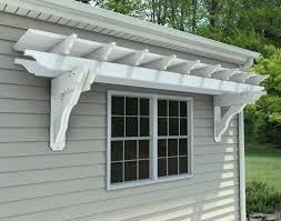 vinyl eyebrow breeze wall mount pergolas pergolas by mount