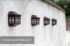 Solar Lights Fence - led solar light outdoor solar led wall lamps waterproof pathway