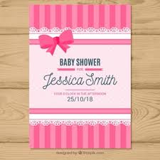 baby girl baby shower invitations baby shower vectors photos and psd files free