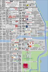 chicago map with attractions retail area map the wrigley building chicago illinois