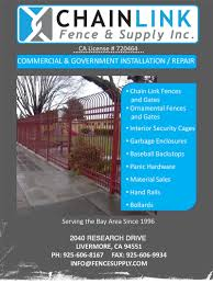 chain link fence installation materials and supply chain link