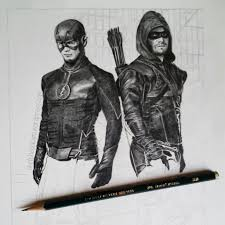 365 artwork challenge the flash and arrow full figure step by