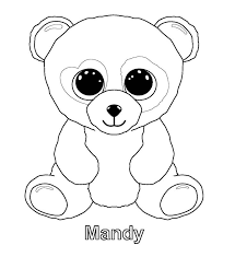 beanie boo coloring outline coloring
