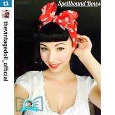 1950s hair accessories and white checks headwrap bandana hair bow spellboundbows