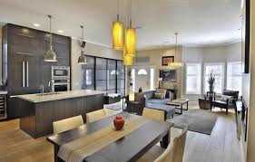 open kitchen living room layout home design