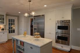 Flush Inset Kitchen Cabinets Flat Panel White Paint Flush Inset Cabinetry With Gorgeous Marble