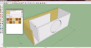 the process of designing subwoofer box with google sketchup 8
