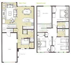 Spacious 3 Bedroom House Plans Floor Plans For Whistler Montebello Ii Home Rentals