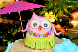 owl cake hula owl cake topper free cake tutorial my cake school my cake