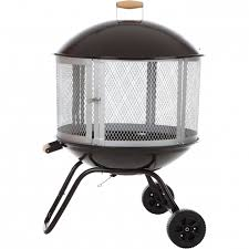 Firepit On Wheels Marvelous Sense 28 Bon Patio Fireplace Walmart Pit