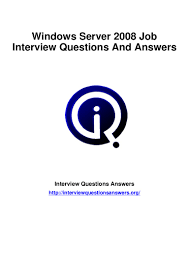 windows server 2008 interview questions answers guide
